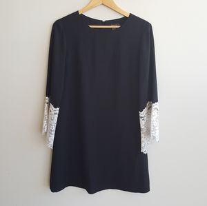 Tahari Dress with Lace Bell Sleeve